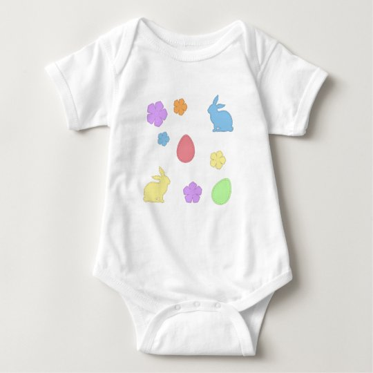 Easter Patches Baby Bodysuit