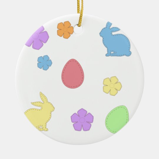 Easter Patches Ceramic Ornament