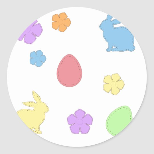 Easter Patches Classic Round Sticker