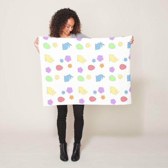 Easter Patches Fleece Blanket