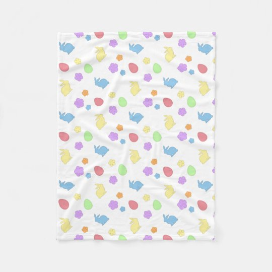 Easter Patches Fleece Blanket