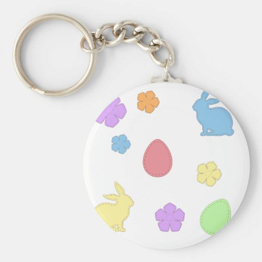Easter Patches Keychain
