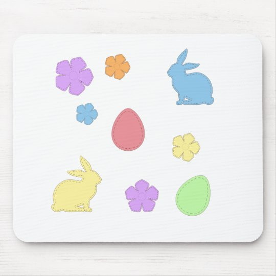 Easter Patches Mouse Pad