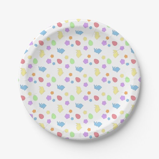 Easter Patches Paper Plate