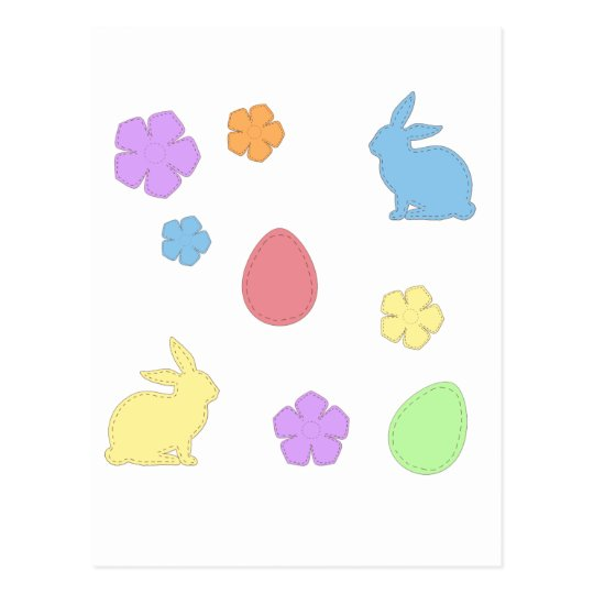 Easter Patches Postcard