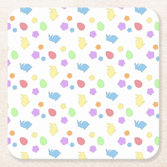 Easter Patches Square Paper Coaster