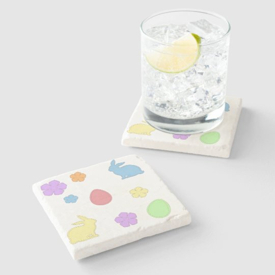 Easter Patches Stone Coaster
