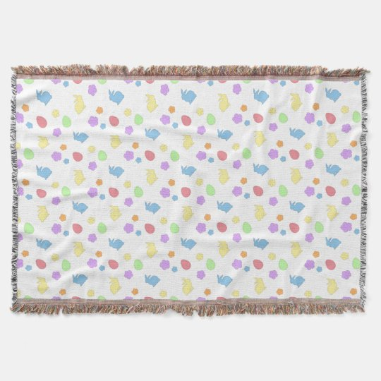 Easter Patches Throw Blanket