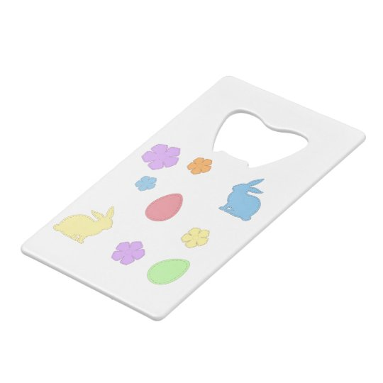 Easter Patches Wallet Bottle Opener