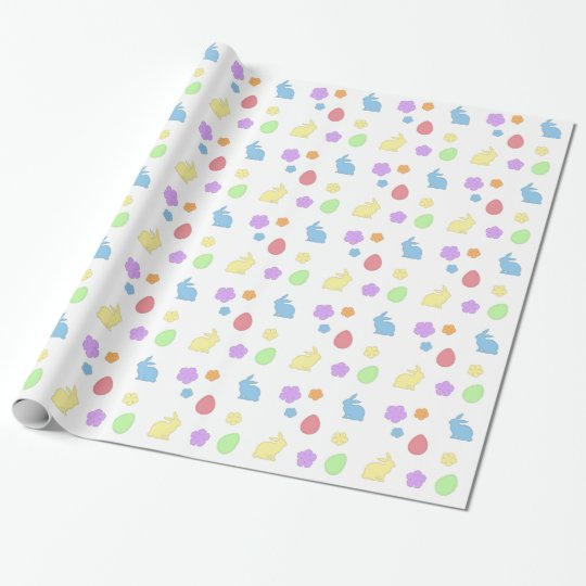 Easter Patches Wrapping Paper