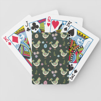 Easter Pattern Bicycle Playing Cards