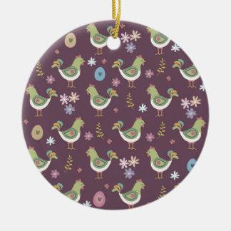 Easter Pattern Ceramic Ornament