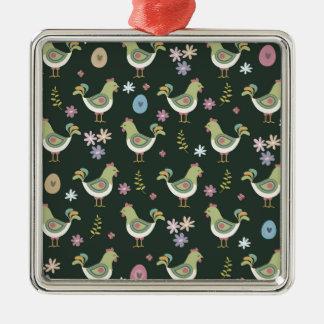 Easter Pattern Metal Ornament