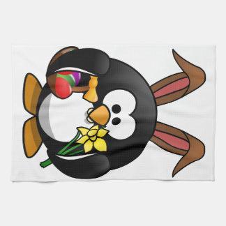 Easter Penguin Kitchen Towel