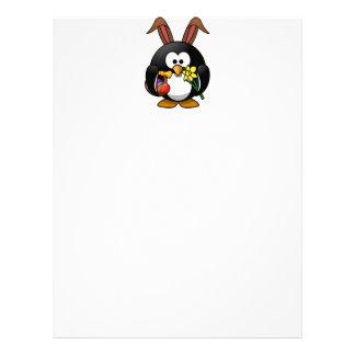 Easter Penguin Letterhead Template