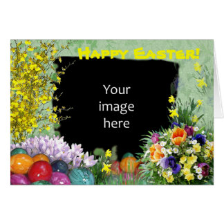 Easter photo frame card
