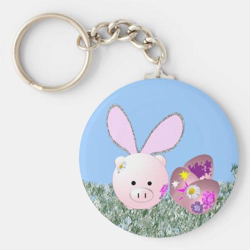 Easter Piggy Key Chain