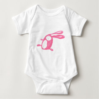 Easter Pink Runing Bunny Baby Bodysuit