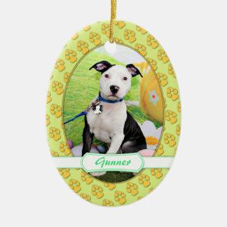 Easter - Pitbull  - Gunner Ceramic Ornament