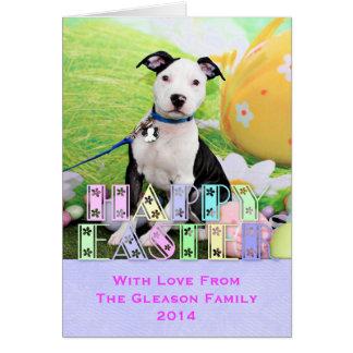 Easter - Pitbull  - Gunner Greeting Card
