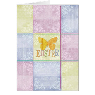 Easter Plaid Greeting Card
