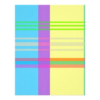 Easter Plaid Letterhead Design
