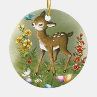 Easter Play Ceramic Ornament