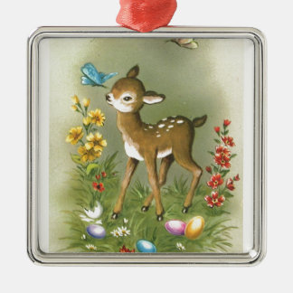 Easter Play Metal Ornament
