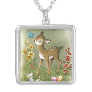 Easter Play Silver Plated Necklace
