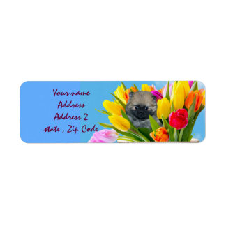 Easter pomeranian address labels