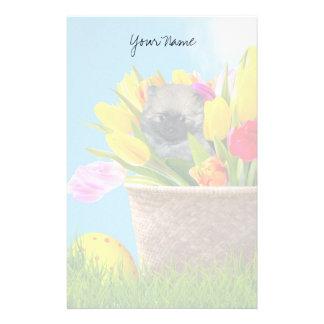 Easter Pomeranian puppy stationary Stationery