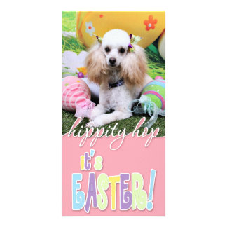Easter - Poodle - Dolly Picture Card