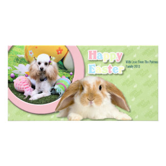 Easter - Poodle - Dolly Photo Greeting Card