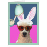 Easter Poodle Glamming It Up Greeting Card