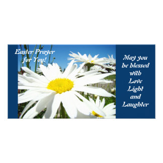 Easter Prayer Blessed with Love Light Laughter Custom Photo Card