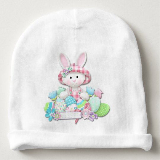 Easter - Pretty Quilted Bunny Baby Beanie