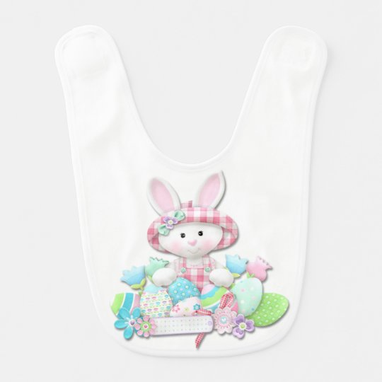 Easter - Pretty Quilted Bunny Baby Bib