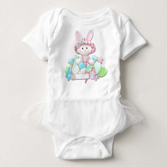 Easter - Pretty Quilted Bunny Baby Bodysuit