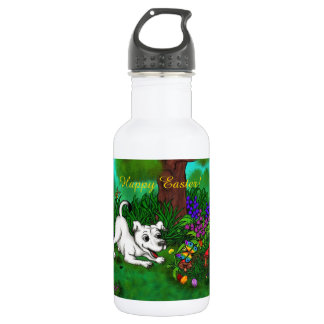 Easter - Puppy Capo and Butterfly 532 Ml Water Bottle