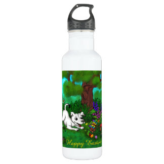 Easter - Puppy Capo and Butterfly 710 Ml Water Bottle