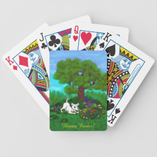 Easter - Puppy Capo and Butterfly Bicycle Playing Cards