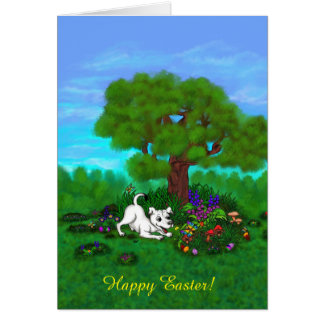 Easter - Puppy Capo and Butterfly Card