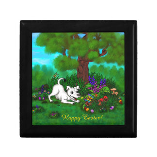 Easter - Puppy Capo and Butterfly Gift Box