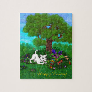 Easter - Puppy Capo and Butterfly Jigsaw Puzzle