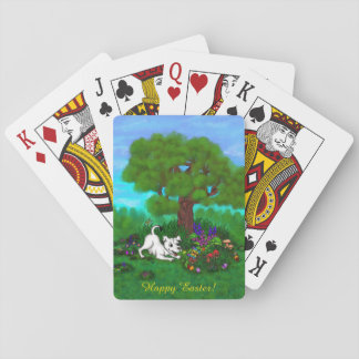 Easter - Puppy Capo and Butterfly Playing Cards