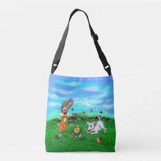 Easter - Puppy Capo Rabbit and Chick Crossbody Bag