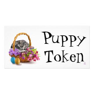 Easter Puppy Token Photo Card
