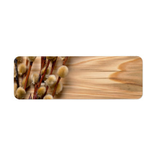 Easter Pussy Willow Branch Return Address Label