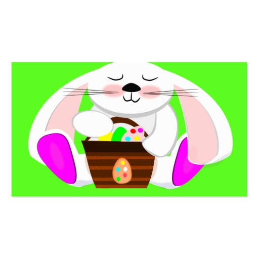 Easter Rabbit And A Basket of Eggs Business Cards