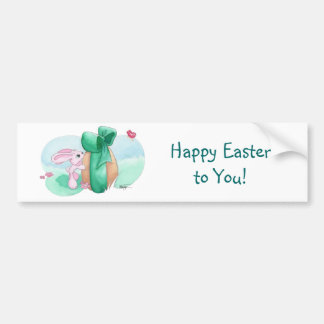 Easter Rabbit - For You! Car Bumper Sticker